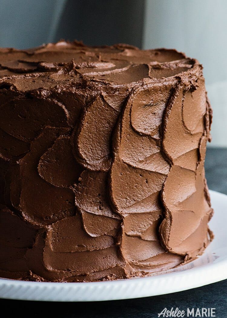 Perfect Chocolate Cake Recipe with Ganache Buttercream- rich, dense and delicious   Ashlee Marie   Summer   Dessert   Chocolate   Cake   Holiday   Party Food  