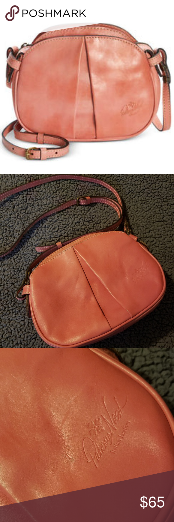 2e742b654 Patricia Nash Chania Crossbody Bag Color - Blush Pink 100% Italian Leather  Crossbody
