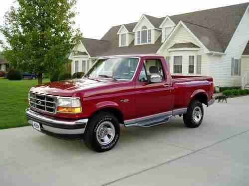 94 Ford Flareside Truck   1994 FORD F 150 XLT FLARESIDE.. 5.8L V8..16K  MILES.. THE BEST YOU WILL .