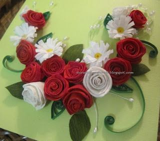Craft Ideas For All Paper Quilled Rose And Daisy Wall Art Tutorial