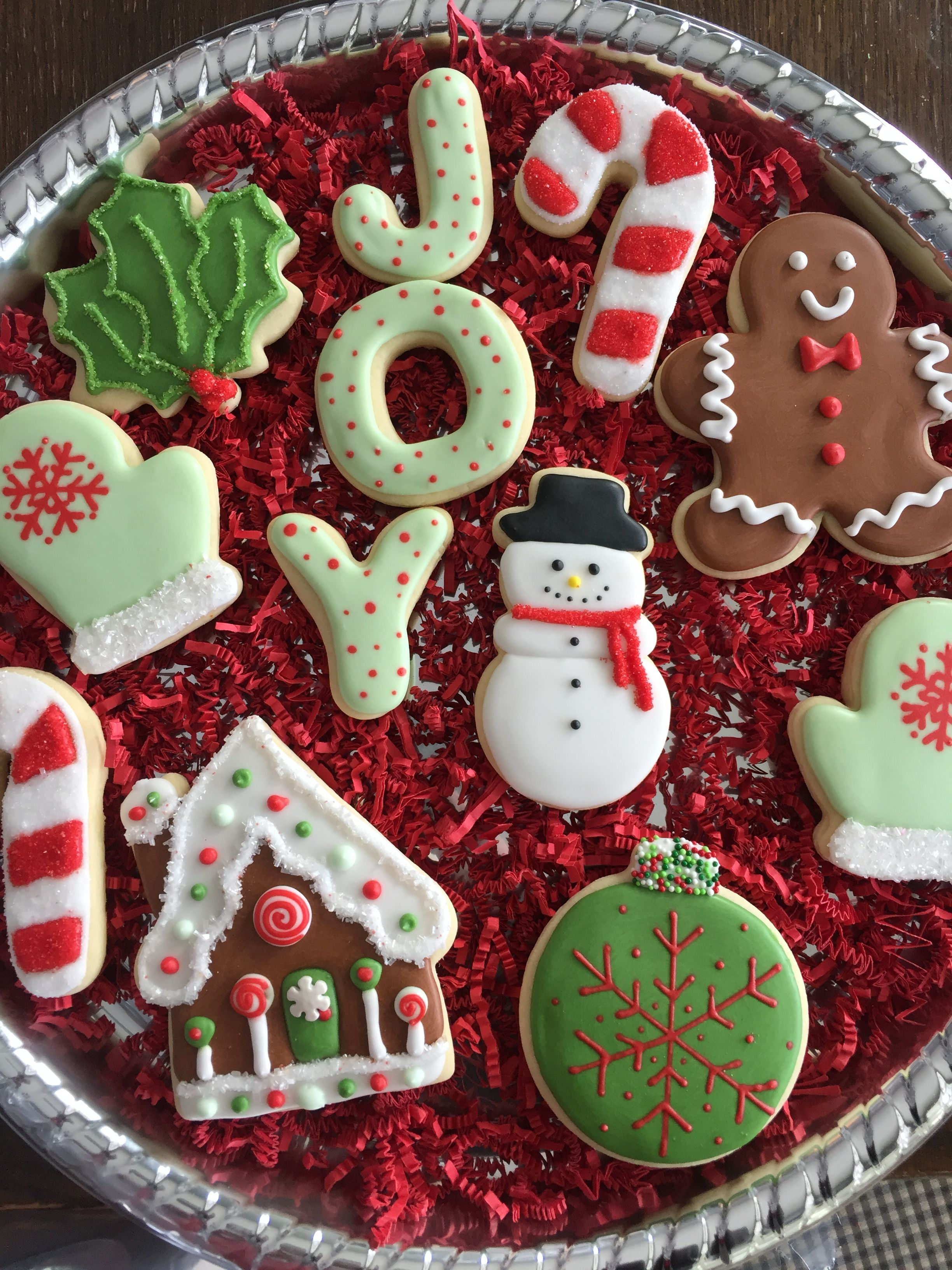 Frosting For Christmas Cookies.Joy Christmas Cookie Tray Royal Icing My Cakes And