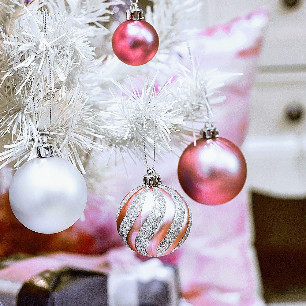 Weiße Christbaumkugeln Matt.100 Stück Weihnachtskugeln In Transparenten Behältern Bequeme