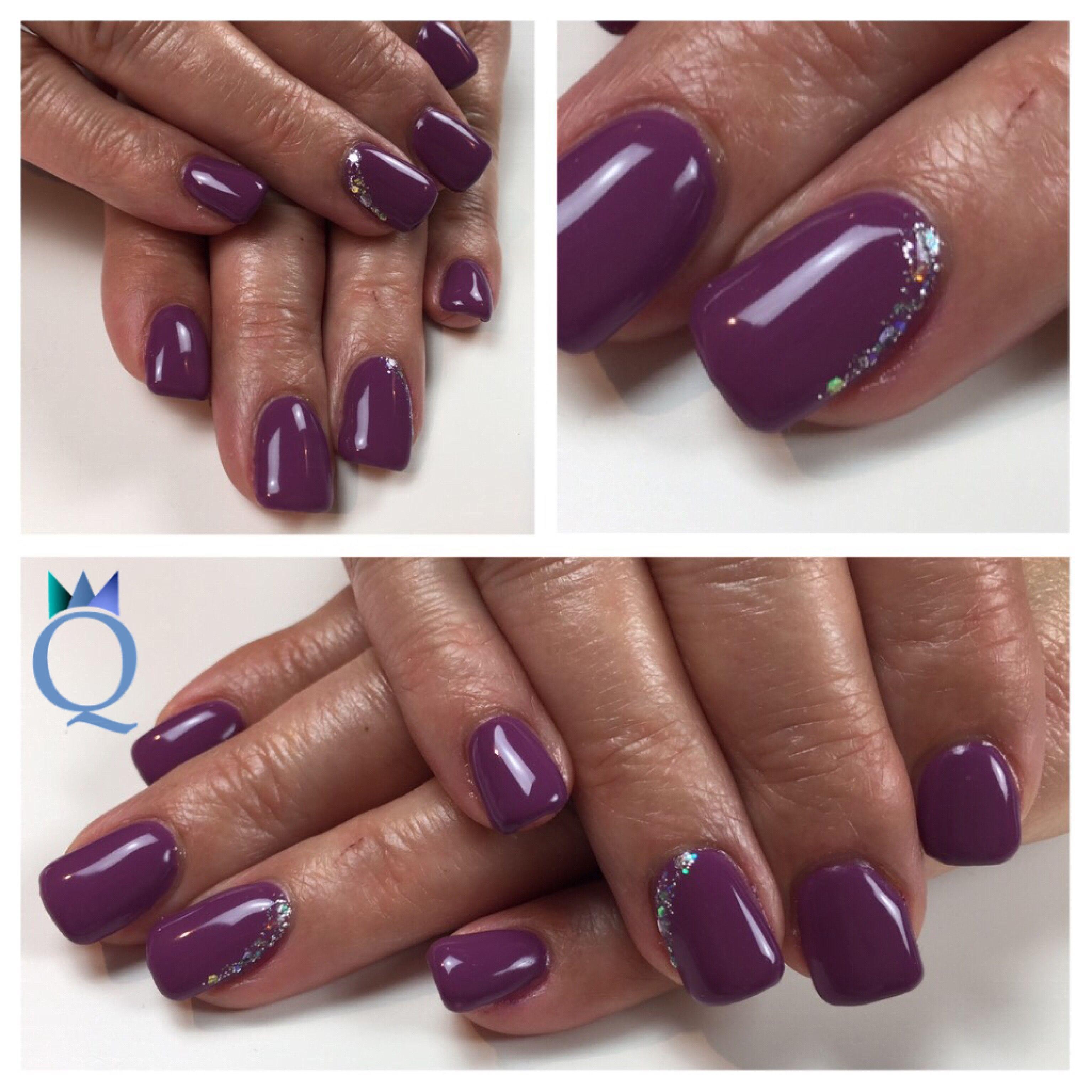 shortnails gelnails nails purple rainbow glitter kurzen gel geln gel n gel violett. Black Bedroom Furniture Sets. Home Design Ideas