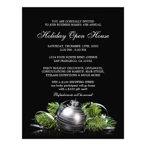 Christmas And Holiday Open House Flyer Template Flyer template - open house flyer template