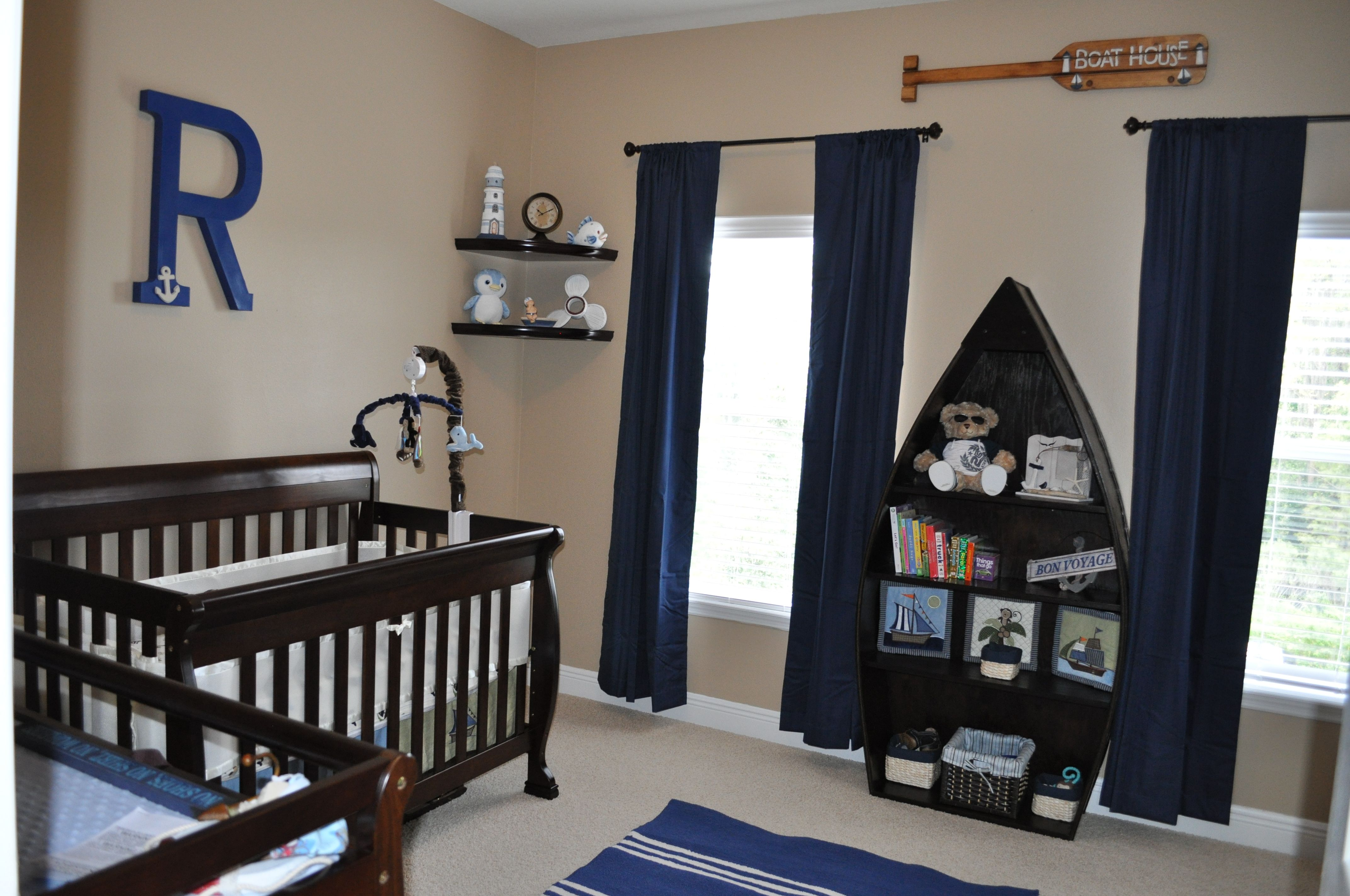 Nautical Baby Nursery Wooden Boat Bookcase Kid S Room