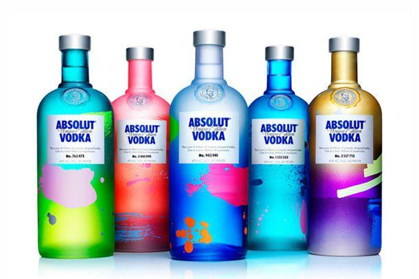 Las nuevas botellas de Absolut, 4,000,000 de botellas diferentes.