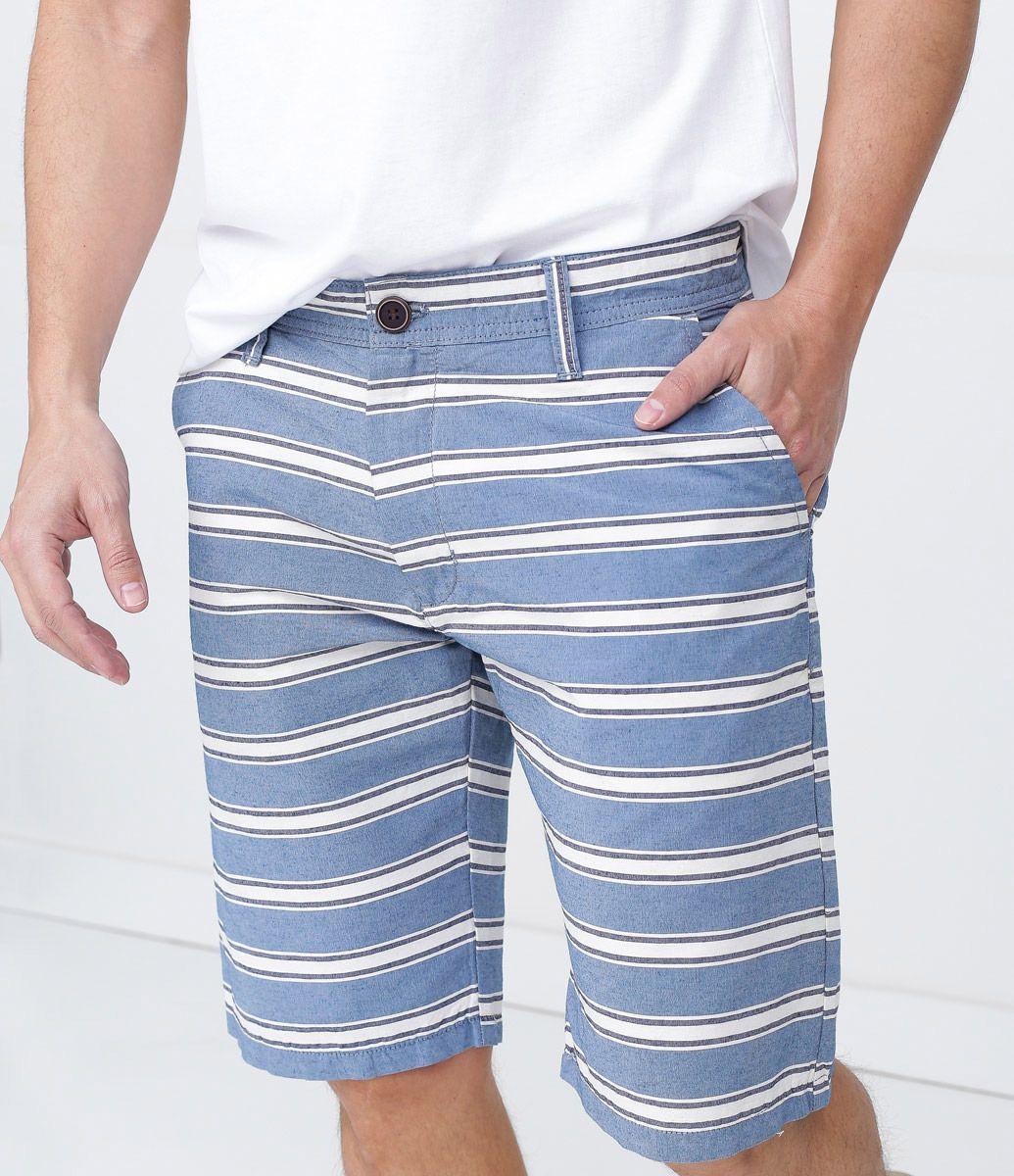 4bcca0836817 Bermuda Masculina em Sarja Listrada - Lojas Renner | Moda masculina ...