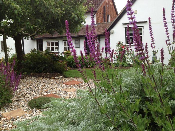 Gartengestaltung Ideen Kies Garten Pflanzen Gartengestaltung