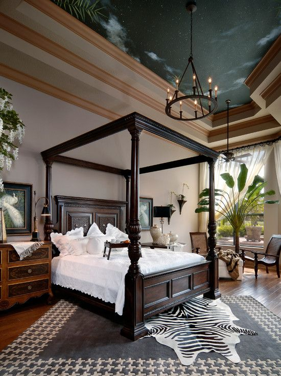 Spaces Teak Four Poster King Size Bed Design, Pictures, Remodel, Decor And  Ideas