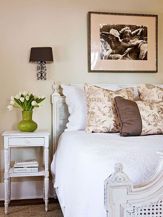 Country French flair in this bedroom from bhg Bedrooms ideas