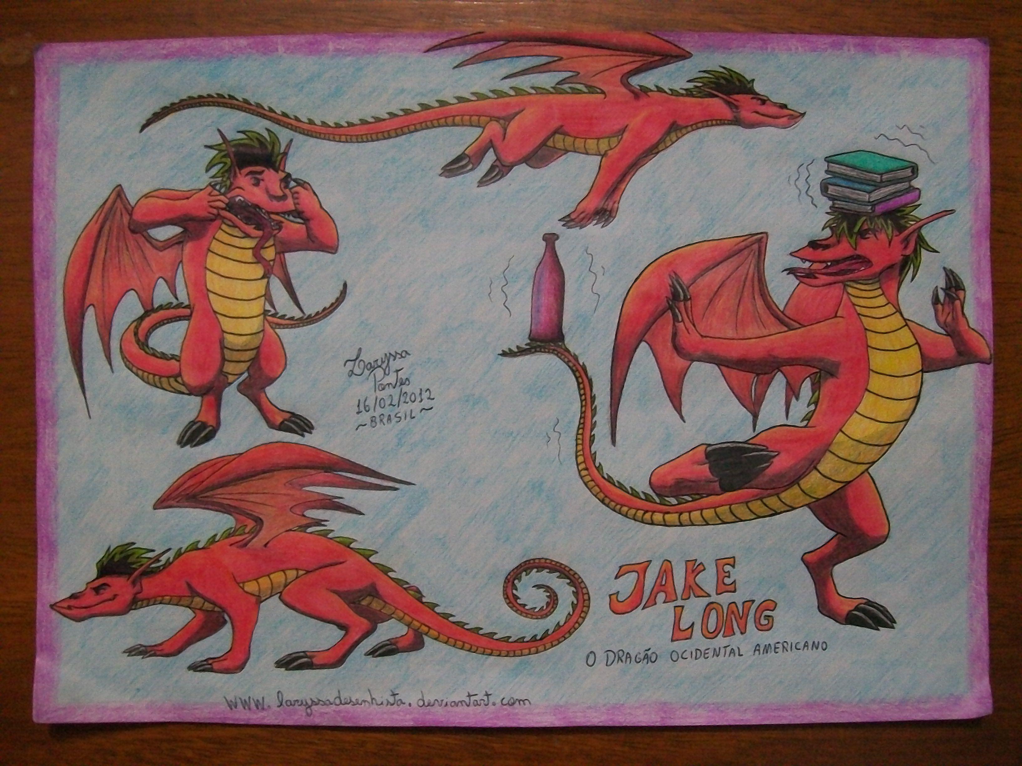 Best 25 dragon occidental ideas on pinterest randy cunningham jake long the american dragon by laryssadesenhistaiantart on deviantart ccuart Gallery