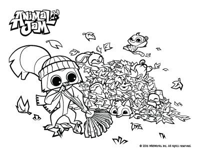 Animal Jam Coloring Pages The Daily Explorer Animal Jam Coloring Pages Animals
