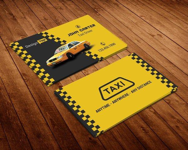 Carte De Visite 23 Creative Taxi Business Card Design