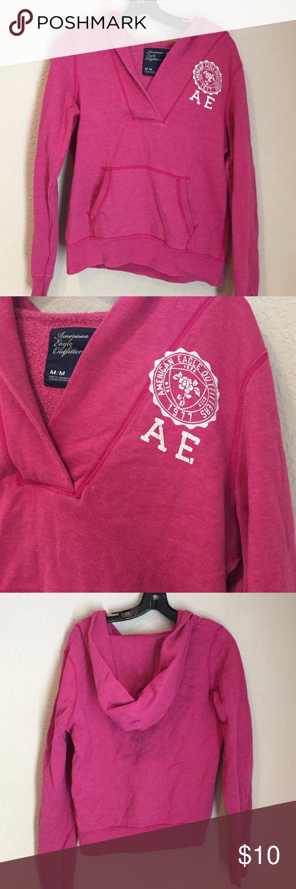 American eagle GUC pink hoody sweatshirt American eagle GUC pink hoody sweatshirt American Eagle Outfitters Tops Sweatshirts & Hoodies