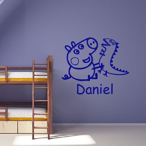 Bedroom Lighting Images Ktm Bedroom Accessories Boy And Girl Bedroom Pinterest Bedroom Furniture Dimensions: Personalised George Peppa Pig Name Wall Sticker Boys