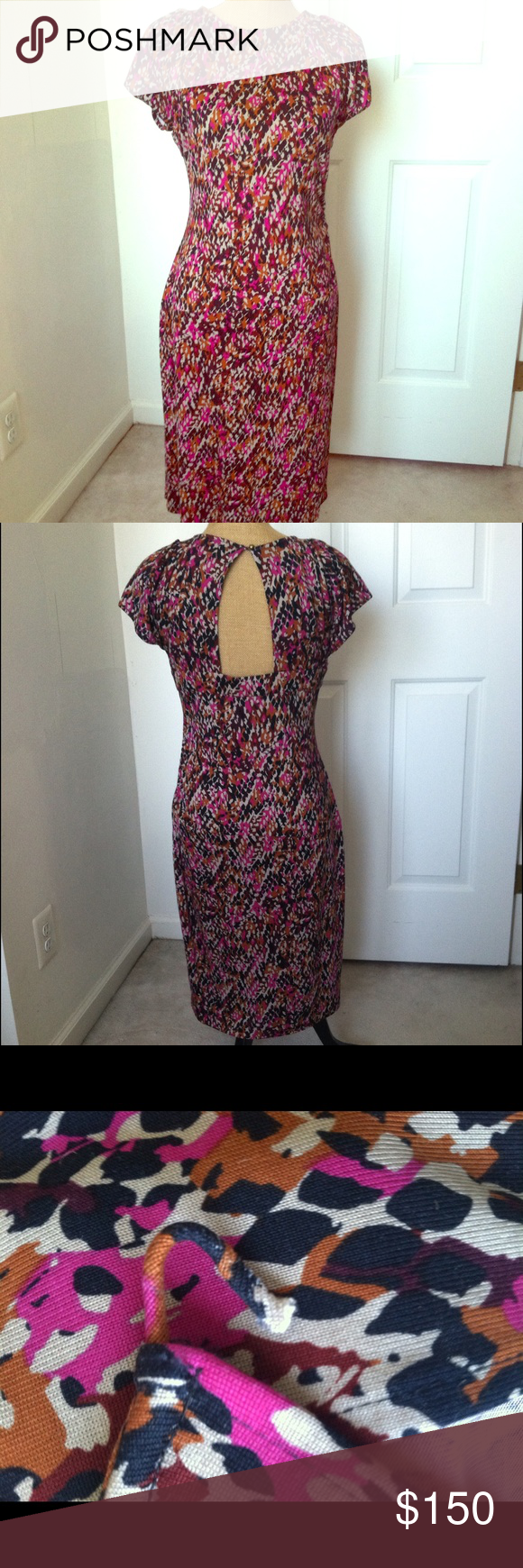 Diane von Furstenberg DVF Thane Silk Dress DVF Thane silk dress in Red Serpent print. Cutout back detail. Side ruching. Cap sleeves. 100% silk jersey. Back button loop needs to be reattached. See pic. Diane von Furstenberg Dresses