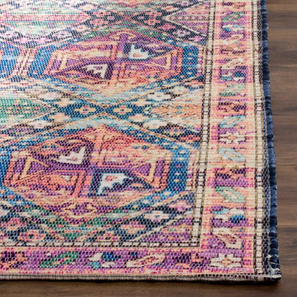 Saffron Purple Blue Area Rug Rugs Area Rugs Colorful Rugs