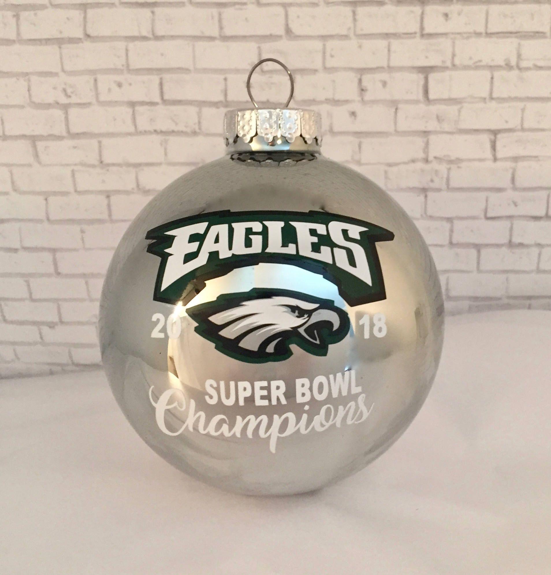 PHILADELPHIA EAGLES 2018 Super Bowl 52 Champions 80mm glass silver ...