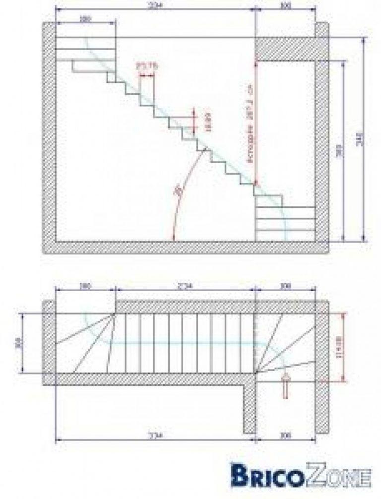 Escalier Quart Tournant Haut Et Bas Calcul Escalier 2 Quart