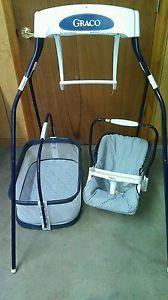 Vintage Graco Swyngomatic Converta Cradle Bassinet Baby