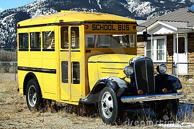 Vintage School Bus Old School Bus School Bus Vintage School