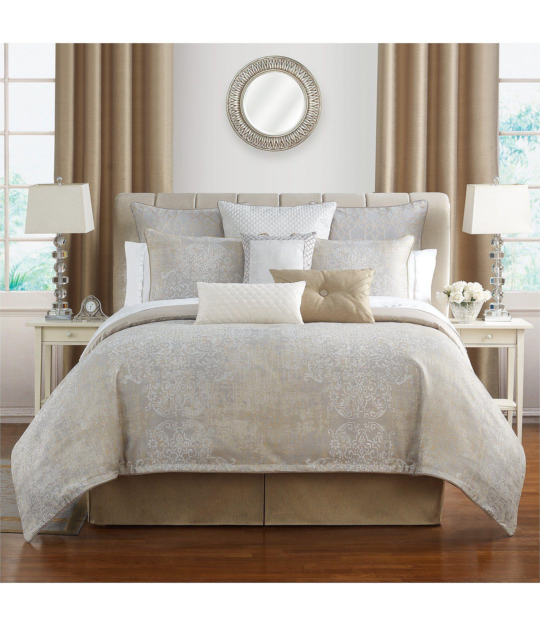 Waterford Maritana Distressed Damask Comforter Set Dillard S In 2021 Comforter Sets King Bedding Sets King Comforter Sets