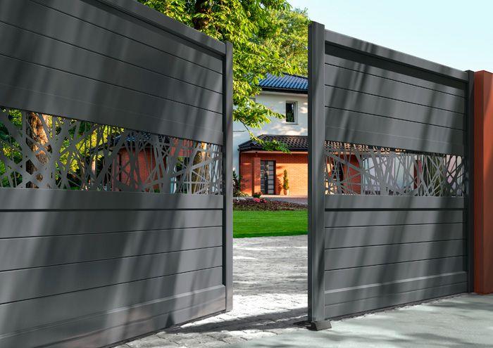 Afficher l\u0027image d\u0027origine брами забор Pinterest - motorisation portail battant ouverture exterieure