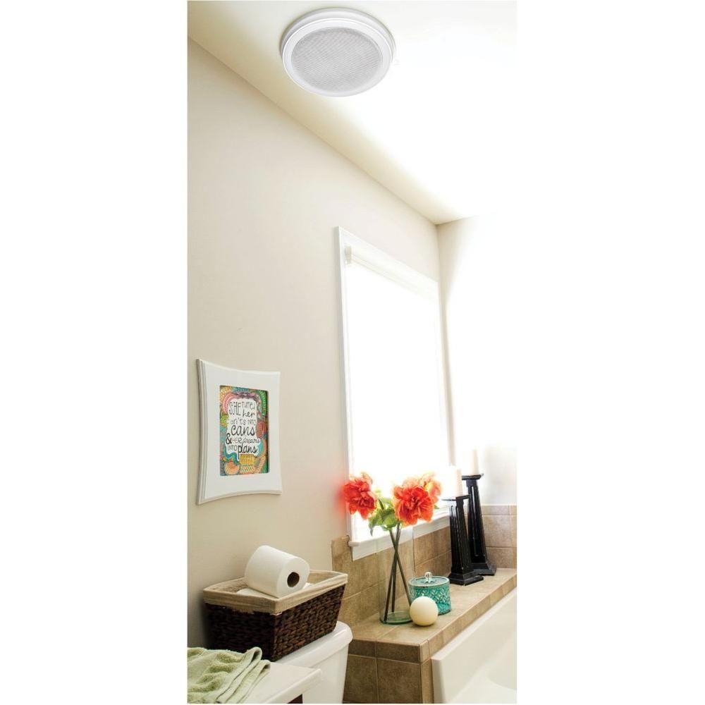 Home Netwerks Decorative White 100 CFM Bluetooth Stereo ...