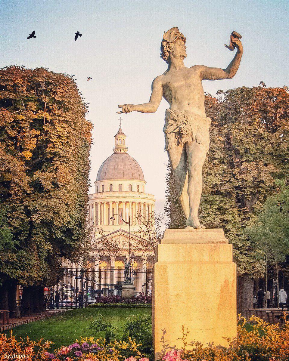 ** le panthéon vu du jardin du luxembourg par Sébastien Pélegrin