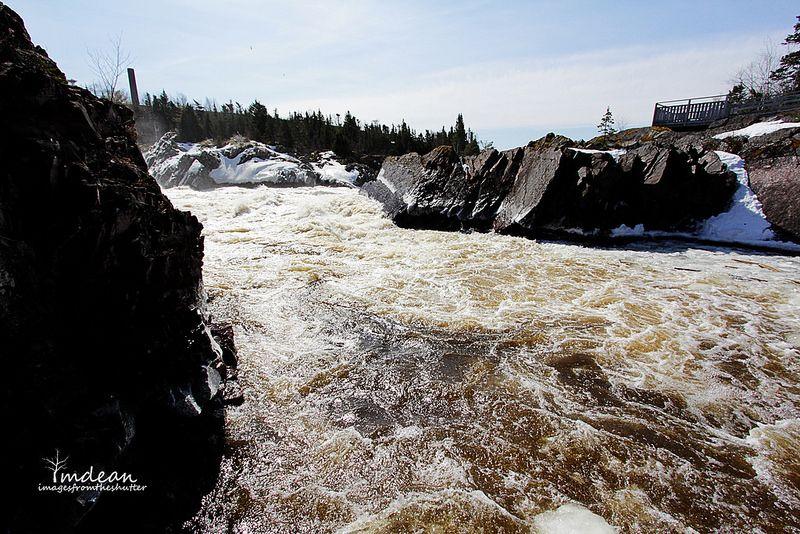 Salmon Ladder Area - Grand Falls-Windsor, April 18, 2014 Photowalk