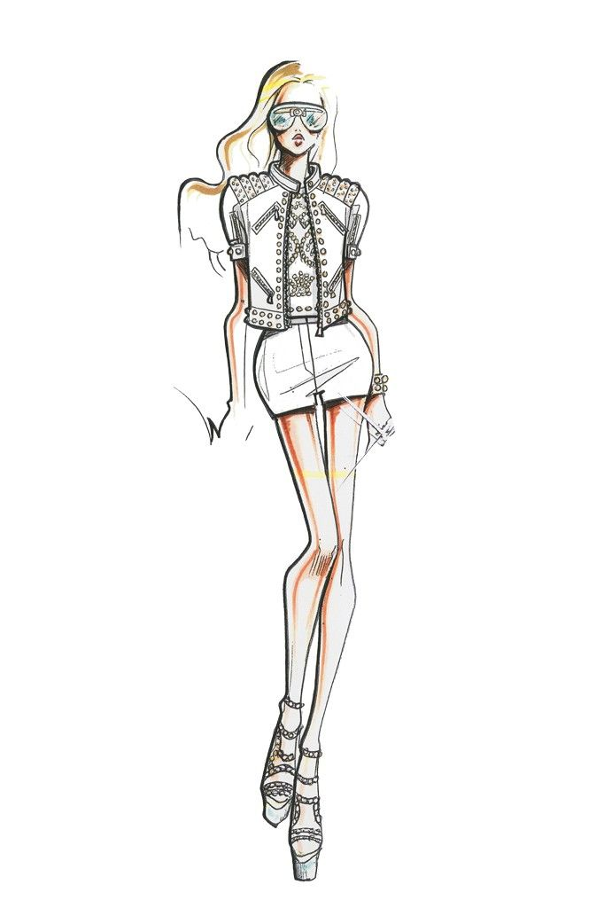 Versace Sketch-Spring/Summer 2012   Fashion Sketches ...