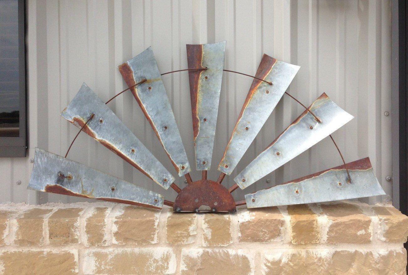 Large Windmill Half Windmill Wall Decor Free Shipping Rustic