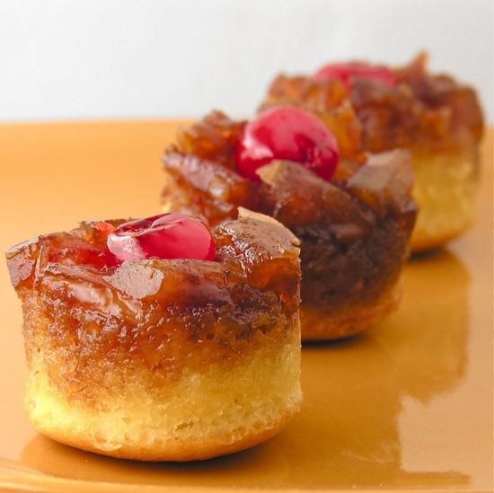 Pineapple Upside Cake From Scratch: Mini Pineapple Upside Down Cakes