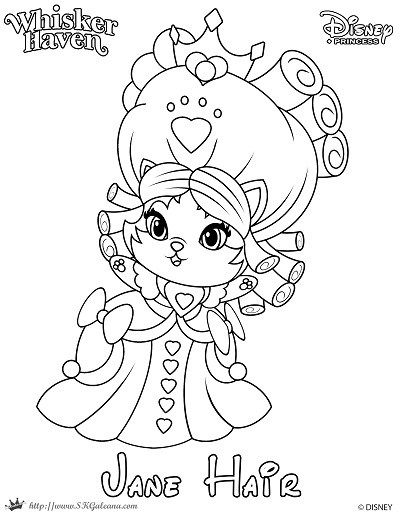 Whisker Haven Tales Coloring Page Of Jane Hair Princess Coloring Pages Coloring Pages Disney Coloring Pages