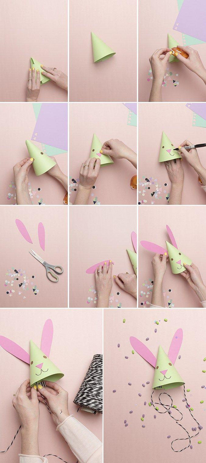 84873e6665349 como hacer los gorritos de fiesta de conejos