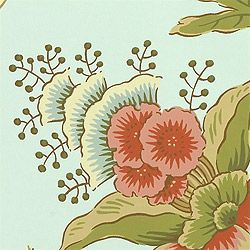 Chinoiserie Floral Aqua F95344 Collection Tea House From