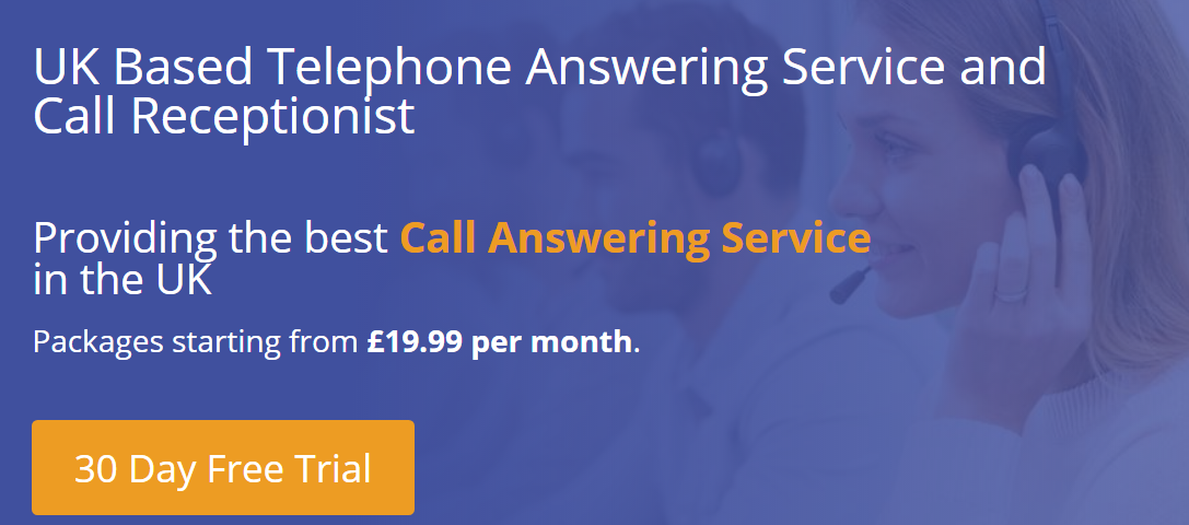 Telephone Answering Service 30 Day Free Trial for UK