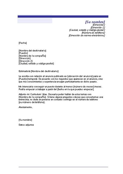 Modelo Carta De Presentacion Quiero Encontrar Trabajo Cartas De Presentación Del Currículum Carta De Presentacion Laboral Carta De Motivacion Laboral