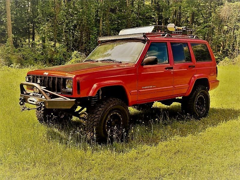 Ebay 1999 Jeep Cherokee Custom Jeep Cherokee Sport 4x4 Lifted