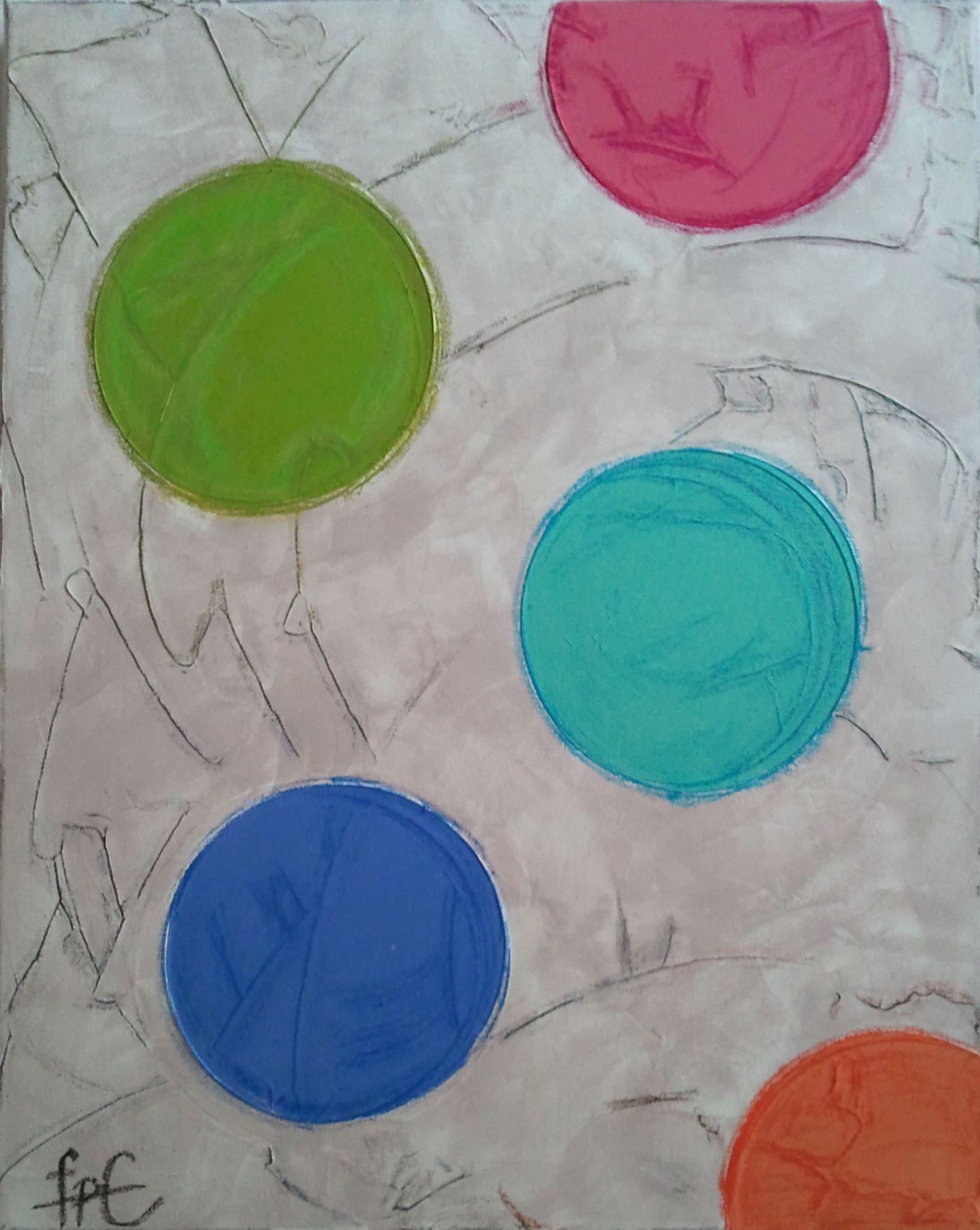 Circles / 40 cm x 50 cm