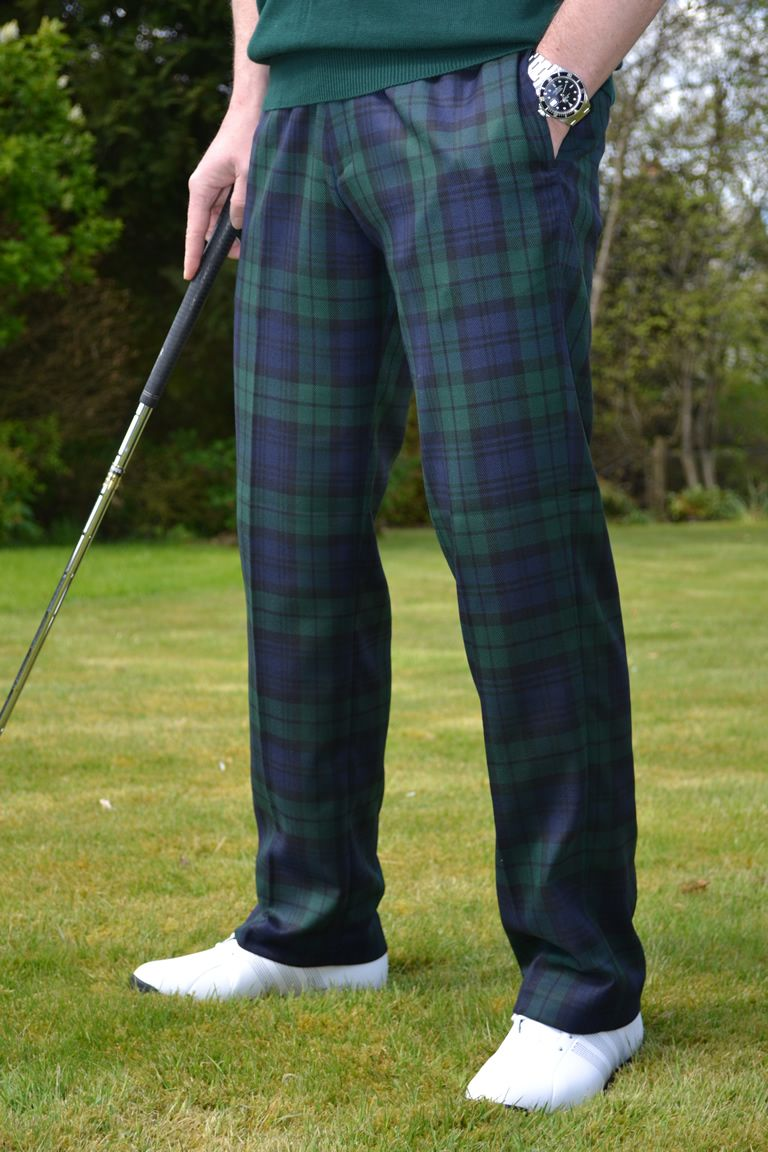 Mens Black Watch Tartan Trousers  3809e5c04