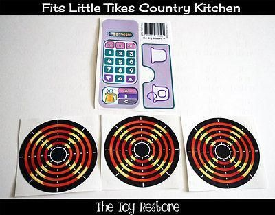 New Replacement Decals Stickers fits Little Tikes Tykes Country Kitchen Yellow