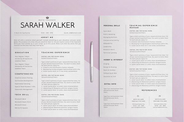 Resume / CV Teacher Edition - 2 by SignatureResume on