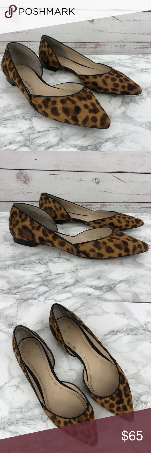 9b7d297137a MARC FISHER Sunny Leopard Hair D Orsay Flat SZ 7.5 MARC FISHER LTD Sunny  Genuine