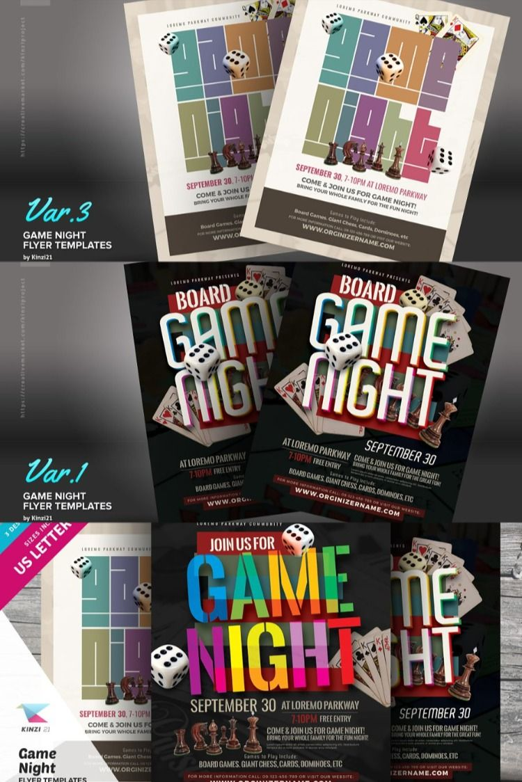 Game Night Flyer Templates Flyer Template Flyer Fundraiser Flyer Board game night flyer template