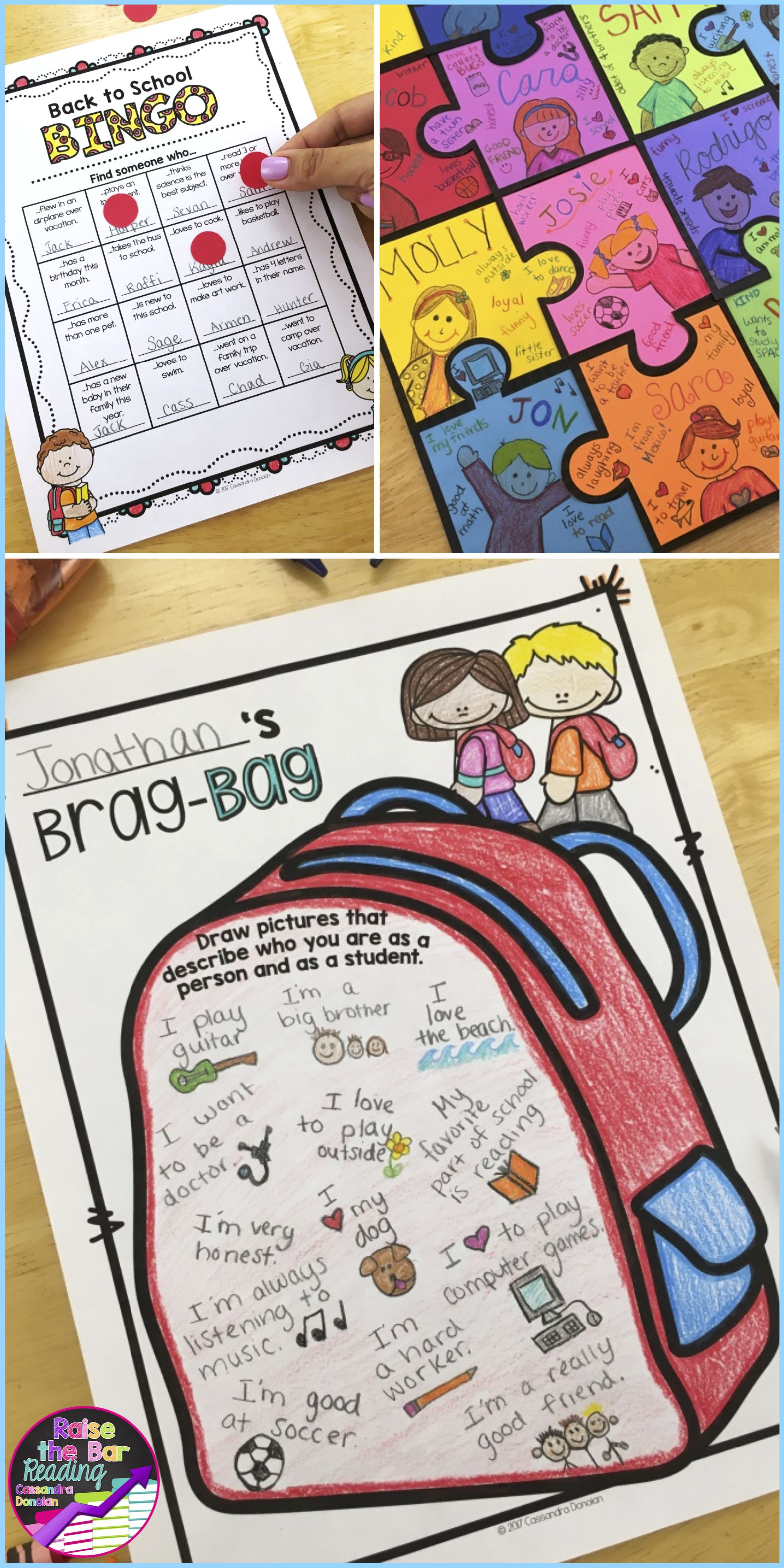 Back To School Activities All About Me Book Glyphs Amp Writing Prompts