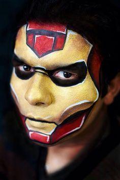 Pintacaritas Ironman Buscar Con Google Maquillaje De Superheroes Caras Pintadas Disenos De Pintura De La Cara