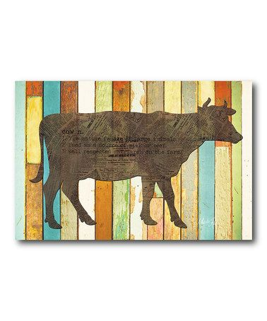 Look what I found on #zulily! Cow Gallery-Wrapped Canvas #zulilyfinds