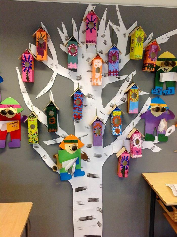 Interieur und Exterieurideen mit Deko Vogelhaus is part of Preschool art, Art projects, Art for kids, Kids art projects, Crafts for kids, Crafts - Ein Deko Vogelhaus schafft ein Gefühl von Gemütlichkeit und Wärme zu Hause  Auf den Fotos finden Sie viele Ideen, die das Vogelhaus einschließen