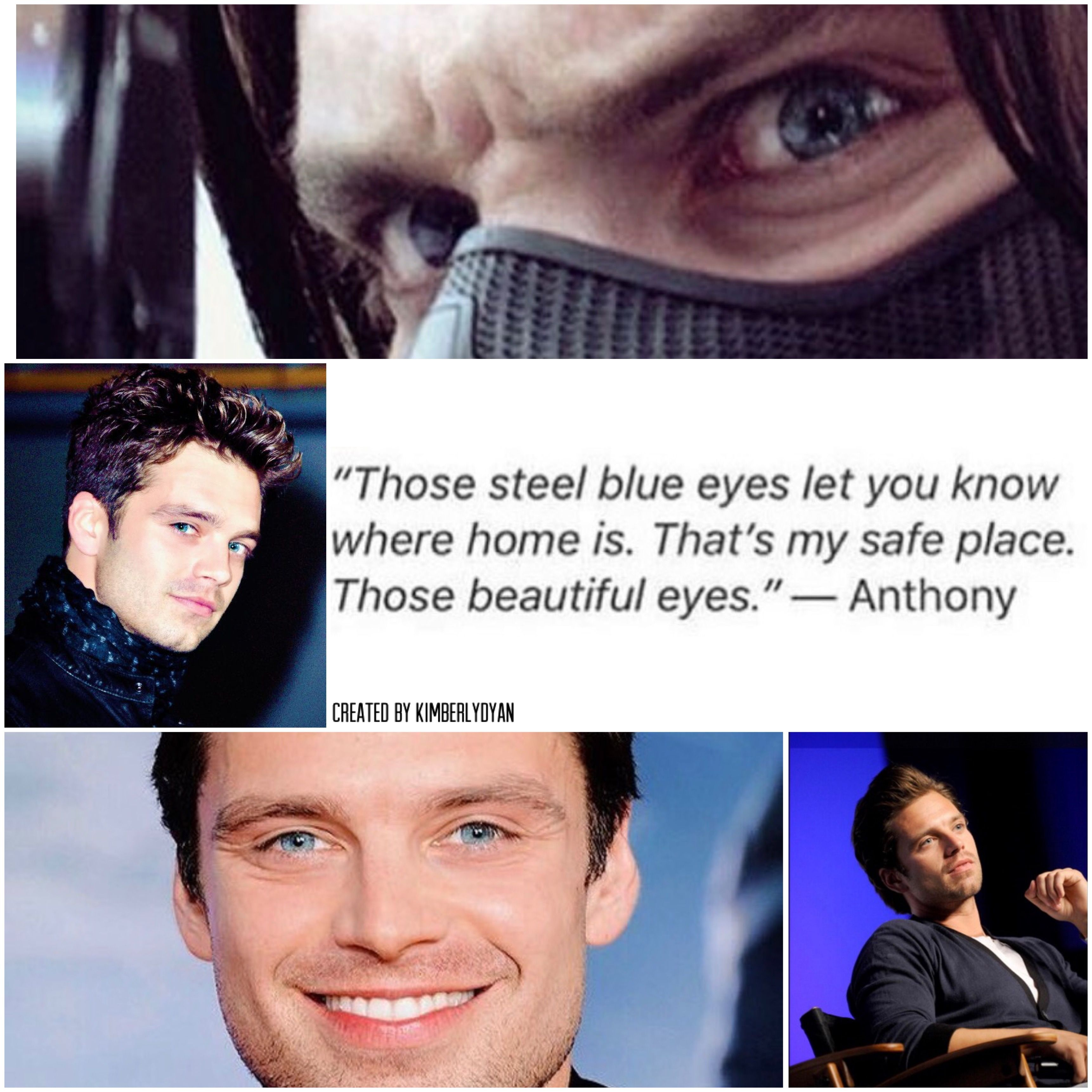 Sebastian ⭐️ Stan and those blue eyes of his created by Kimberlydyan